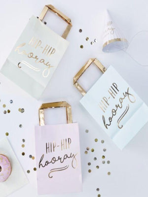 Hip Hip Hooray Pastel and Gold Party Bags