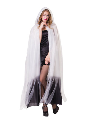 Hooded Cape White Ladies