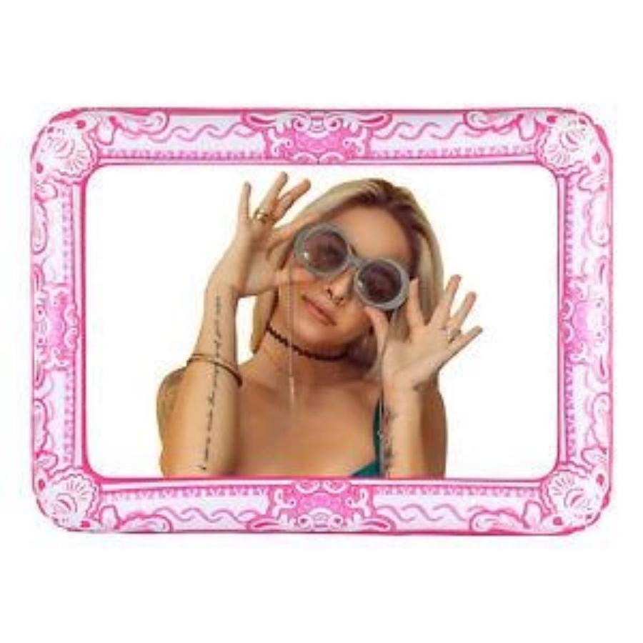 Pink Giant Inflatable Selfie Picture Frame Photo Booth Props 60 x 80cm