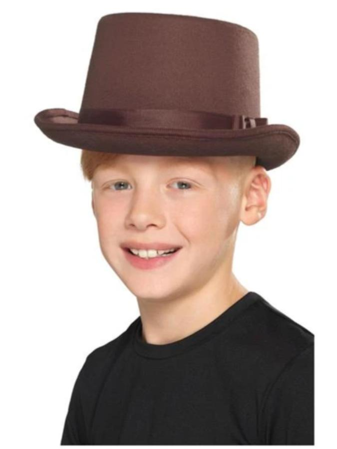 Kids Brown Top Hat