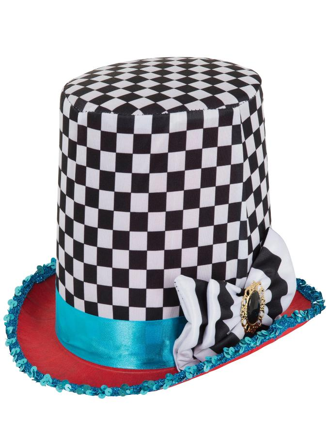Mad Hatter Hat black and white