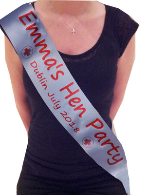 Personalised Nurse Theme Hen Party Sash