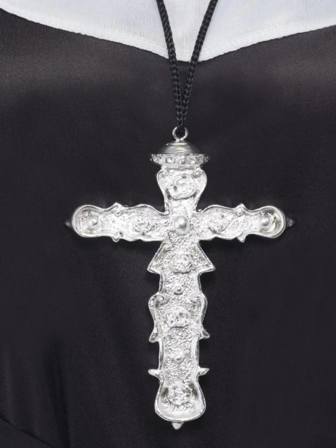 Cross Necklace Silver Deluxe