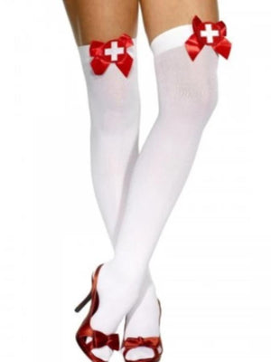 Opaque Hold-Ups  Bow With Cross