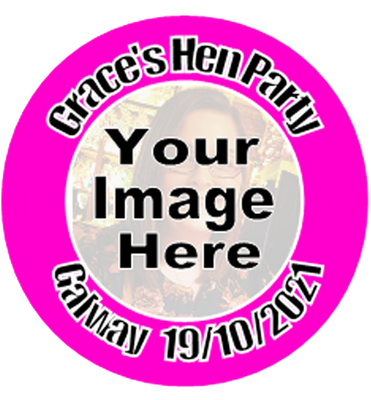 Personalised Hen Party Badge with Picture
