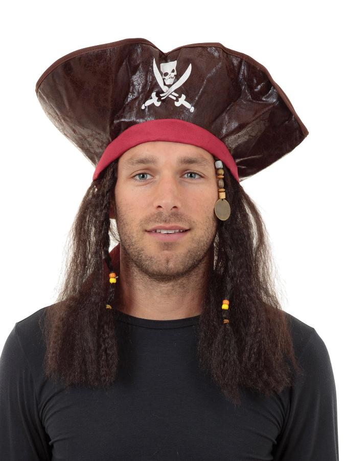 Pirate Carribean Hat And Hair