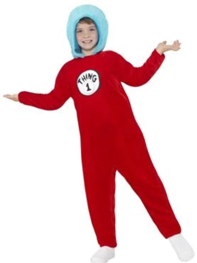 Thing 1 or Thing 2 kids Costume