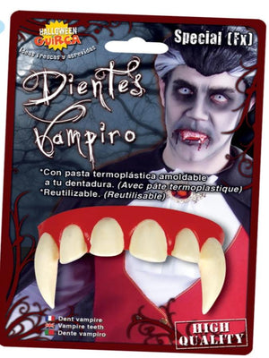 VAMPIRE TEETH WITH THERMOPLASTIC PASTE