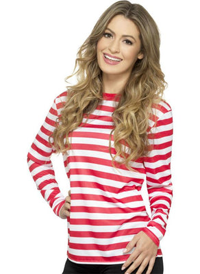 Stripy T-Shirt Red