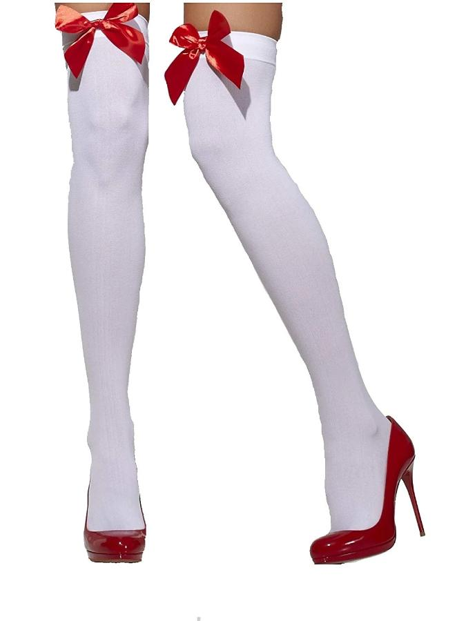 White Stockings With Red Bows