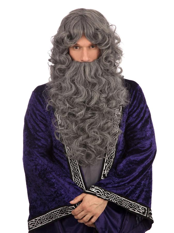 Wizard Grey Wig And Beard