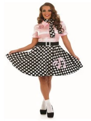 Adult Rock and Roll Girl Costume