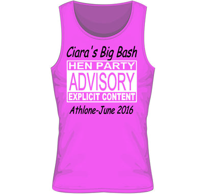 'Caution' Personalised Hen Party T-shirt