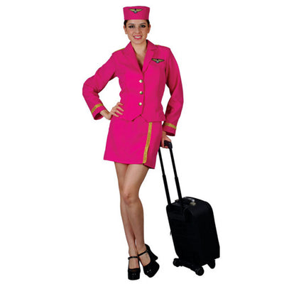 Air Hostess Pink Costume Hire