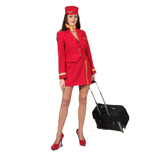 Air Hostess Red Costume Hire