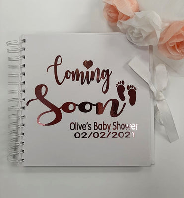 Baby Shower Personalised Memory Book