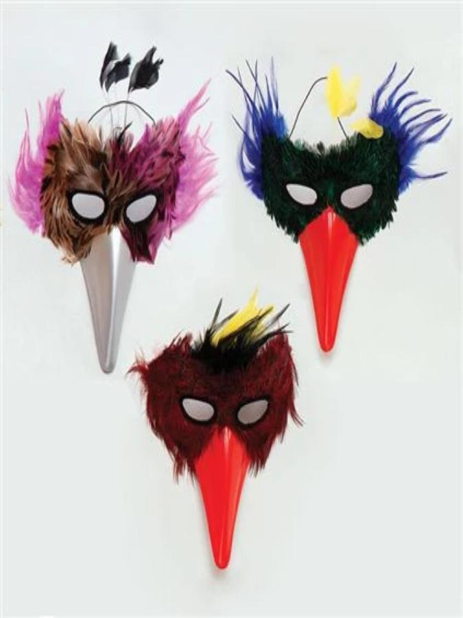 Bird Assorted Feather mask