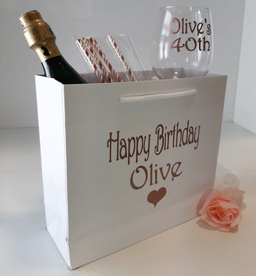 Luxury Personalised Heart Birthday Bag