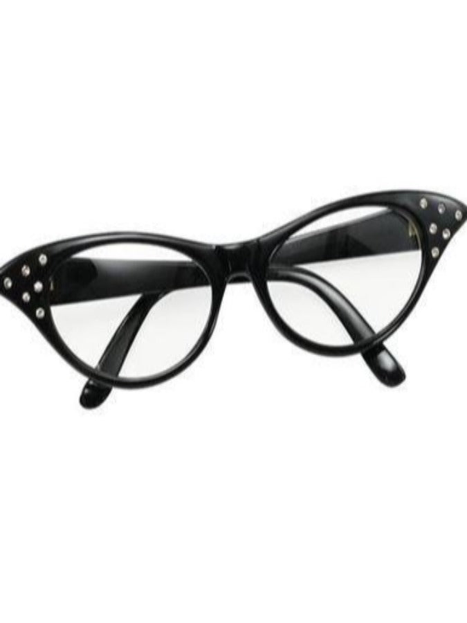 Black 50's female glasses