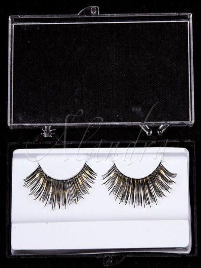Black Eyelashes with Gold