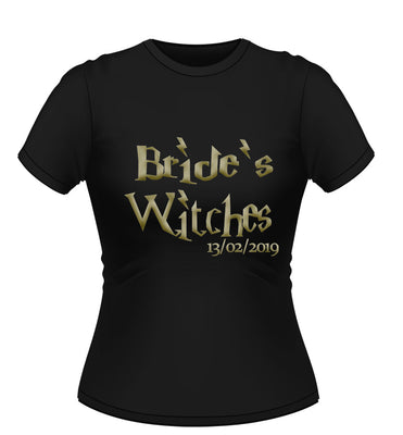 Harry Potter Theme 'Brides Witches' Personalised Hen Party T-Shirt