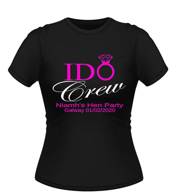 'I Do Crew' Personalised Hen Party T-shirt