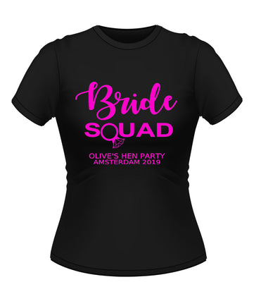 'Bride Squad' Personalised Hen Party Tshirt