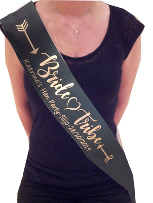 Bride Tribe personalised hen party sash