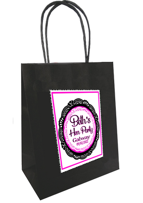 Black Lace Design Personalised Bag