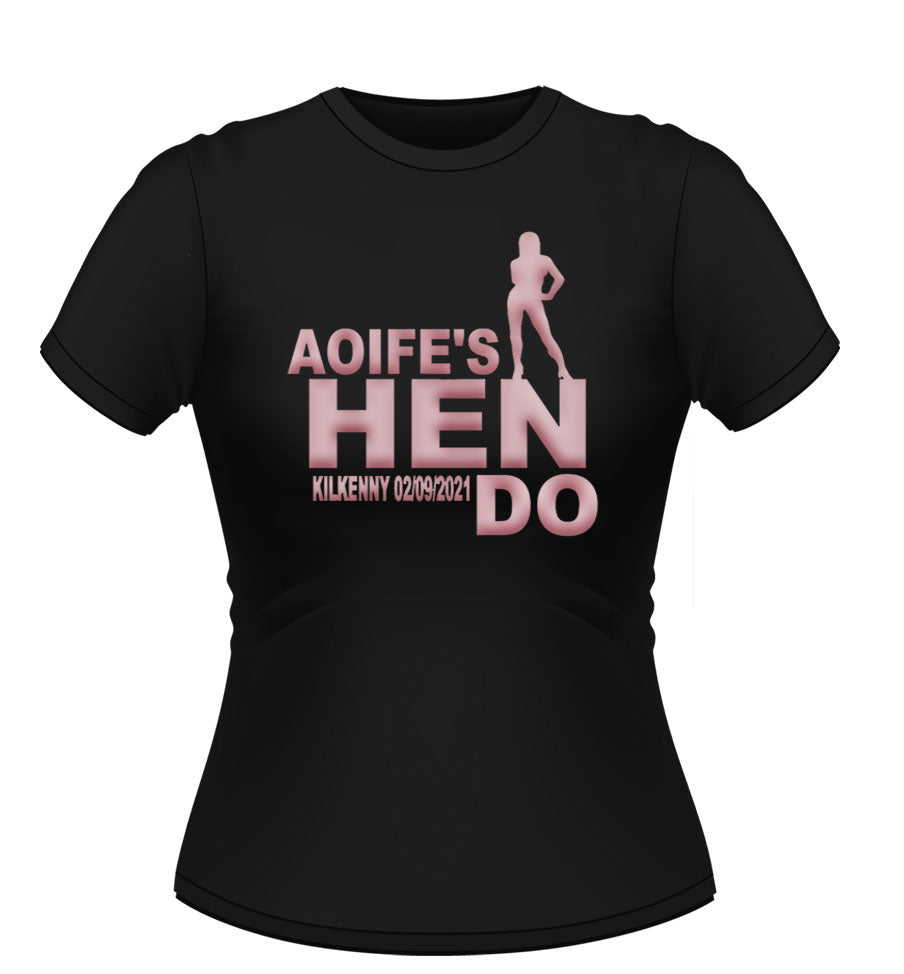 'Hen Do' Personalised T-Shirt