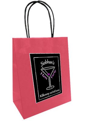 Personalised Black and Bling gift bag