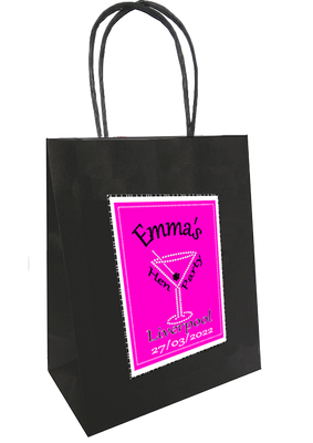 Personalised Pink and bling gift bag
