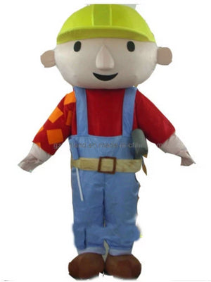 Bob the builder look a like Mascot Costume Hire