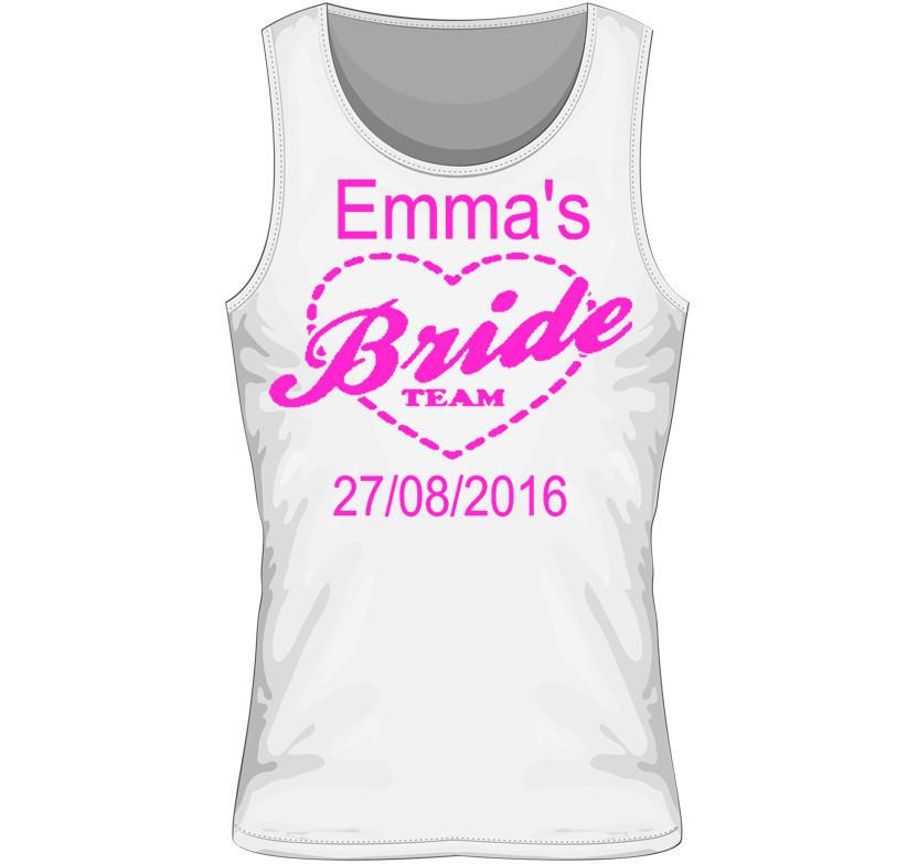 'Bride Team' Personalised Hen Party Vest