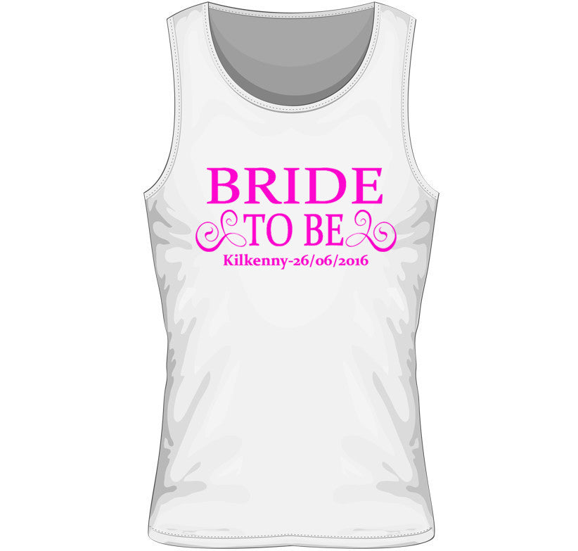 Bride to Be Personalised Hen Party Vest