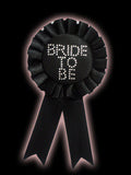 Hen Night Bride to Be Rosette - Black