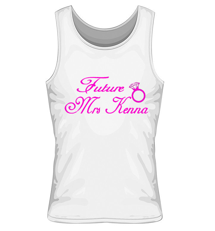 Future Mrs Hen Party Vest with Diamond ring