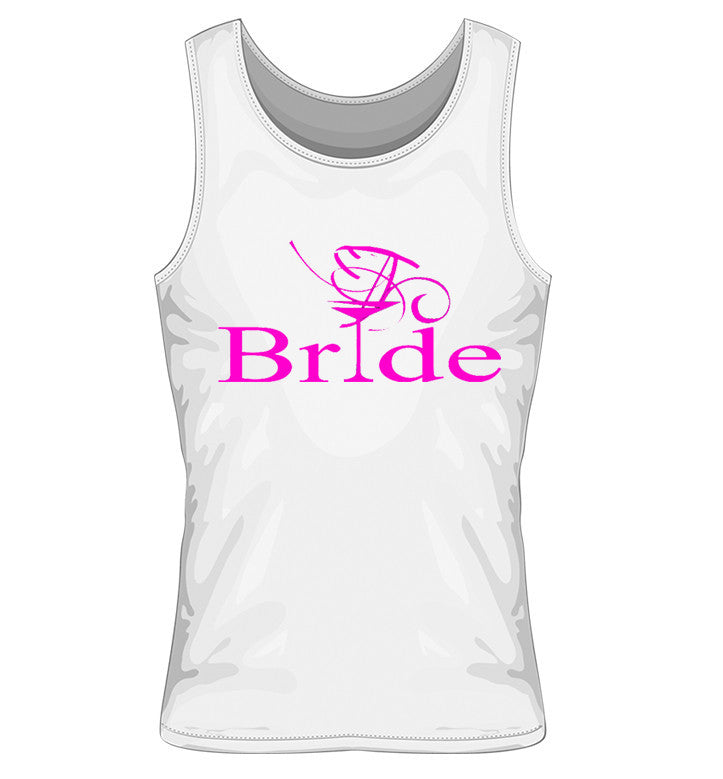 Bride Vest with Cocktail Glass