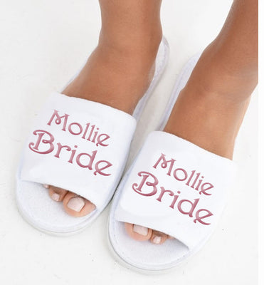 Personalised Bride's Slippers