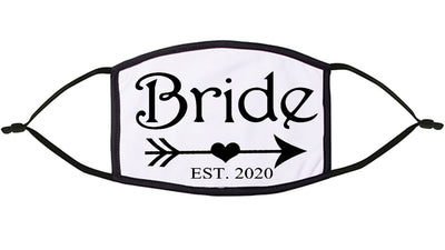 'Bride' Personalised Re-Usable Face Mask