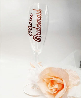 Personalised Bridesmaid Champagne Glass