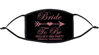 Bride To Be  Personalised Re-Usable Face Mask