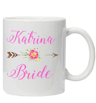 Personalised 'Bride' Mug