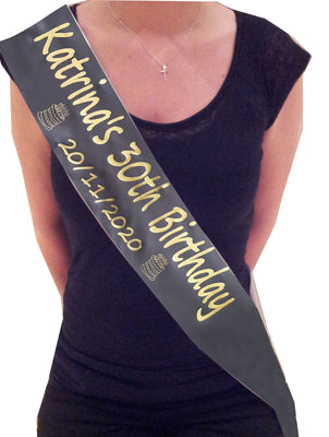 Personalised Birthday Sash