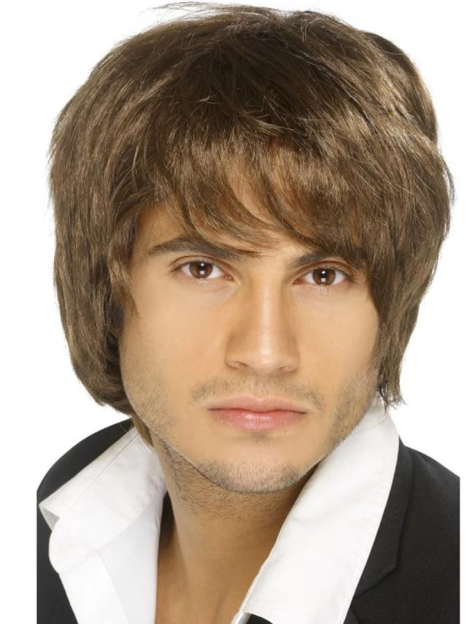 Brown Boy Band Wig