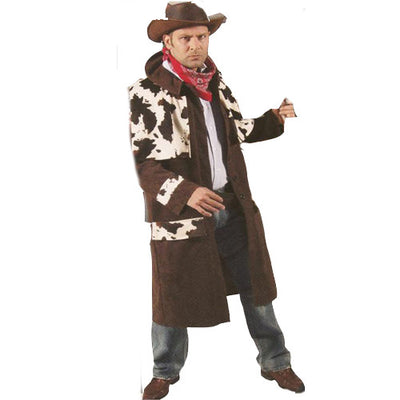 Brown cowprint coat Costume Hire
