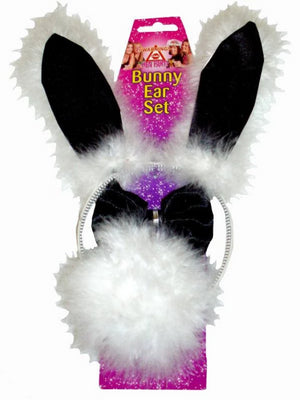 HEN NIGHT Bunny Set Ears Tail And Bow Tie