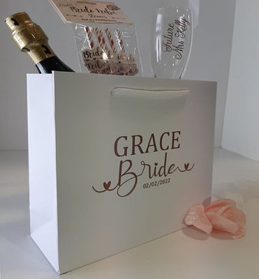 Luxury Personalised Calligraphy style Bride Bag