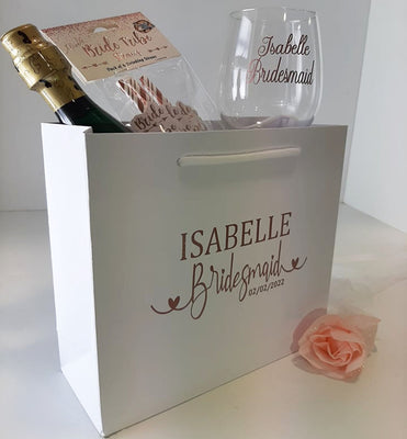 Luxury Personalised Calligraphy style Bridesmaid Bag