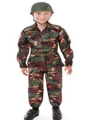 Camouflage Soldier Children's costume